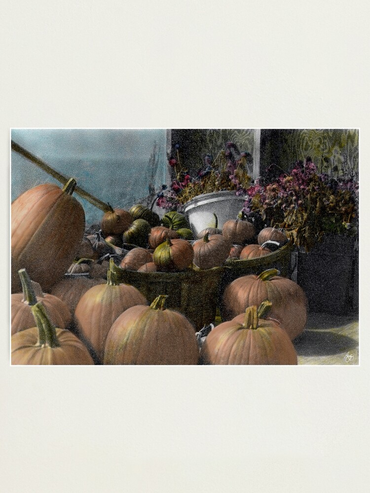 Alternate view of Longview Farm Pumpkins and Flowers Photographic Print