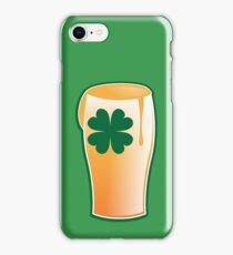 IRISH shamrock pint glass iPhone Case/Skin