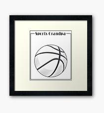 Sports Grandpa - Love Sports  Framed Print