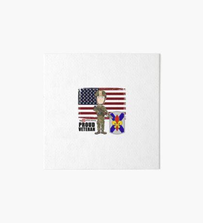 256 Infantry- Proud Veteran Art Board Print