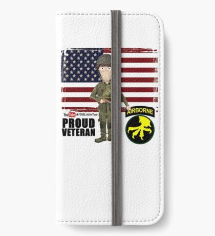 17th Airborne Division- Proud Veteran iPhone Wallet