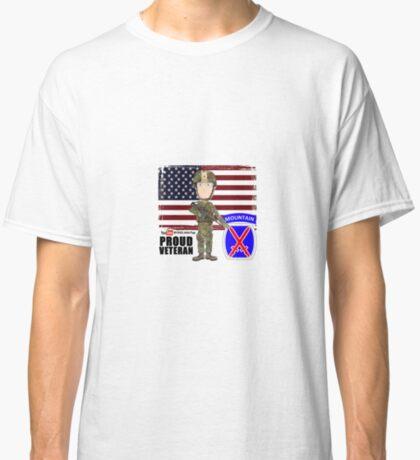 10th Mountain- Proud Veteran Classic T-Shirt