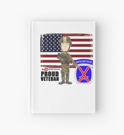 10th Mountain- Proud Veteran Hardcover Journal