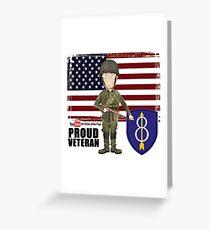 8th Infantry- Proud Veteran Greeting Card
