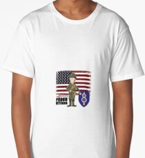 8th Infantry- Proud Veteran Long T-Shirt
