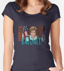 JUDGE JUDY BALONEY Women's Fitted Scoop T-Shirt