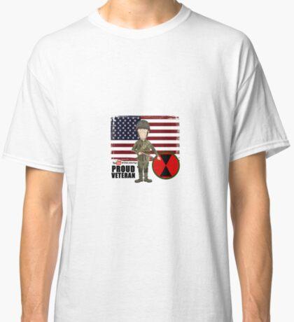 7th ID WW2- Proud Veteran Classic T-Shirt