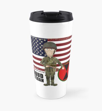 7th ID WW2- Proud Veteran Travel Mug
