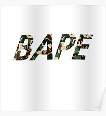 Bape Word Camo Poster