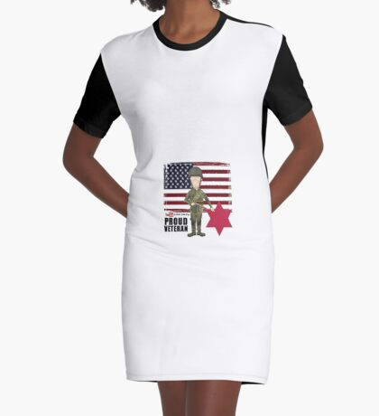 6th Infantry Division- Proud Veteran Graphic T-Shirt Dress