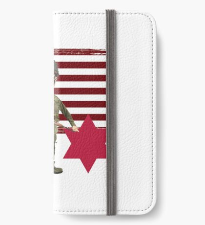 6th Infantry Division- Proud Veteran iPhone Wallet