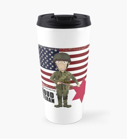 6th Infantry Division- Proud Veteran Travel Mug