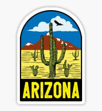 ARIZONA VINTAGE GRAND CANYON TRAVEL PHOENIX COWBOY WILD WEST SAGUARO CACTUS TUCSON TEMPE MESA 2 Sticker