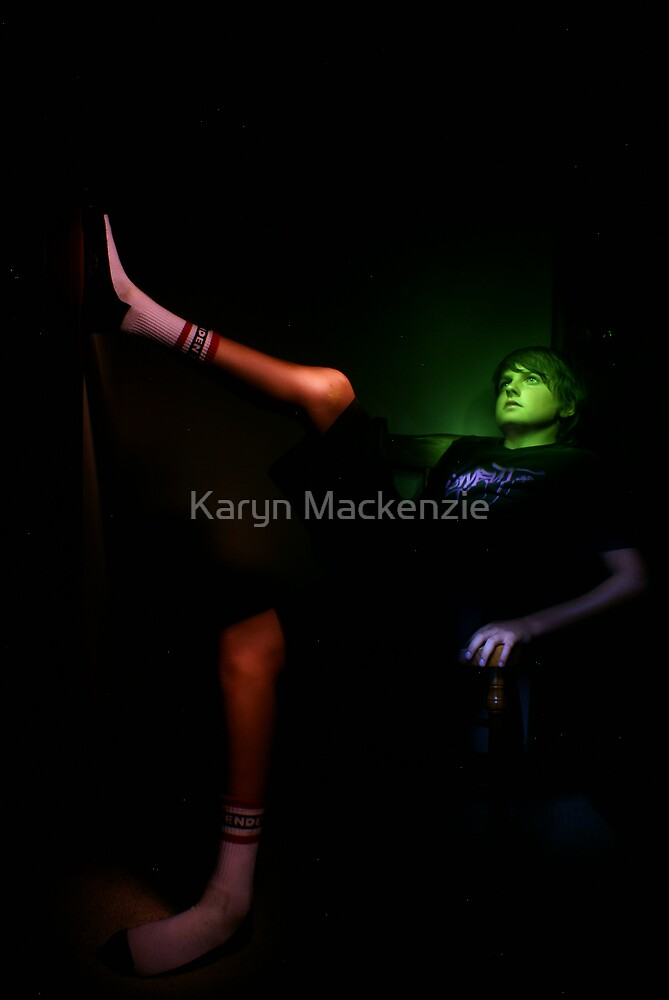 Portrait with painted light by Karyn Mackenzie