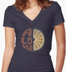 Aloha! Women's Fitted V-Neck T-Shirt