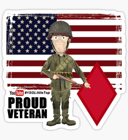 5th Infantry Division- Proud Veteran Sticker