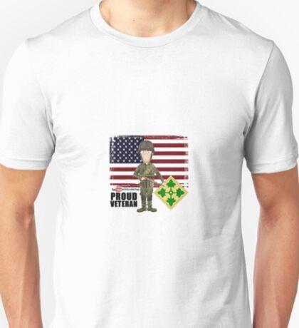 4th Infantry Division WW2 - Proud Veteran T-Shirt