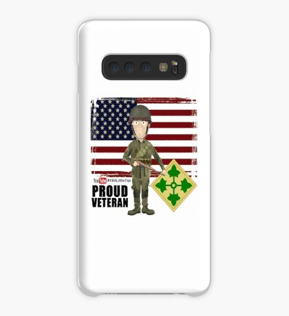 4th Infantry Division WW2 - Proud Veteran Case/Skin for Samsung Galaxy
