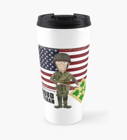 4th Infantry Division WW2 - Proud Veteran Travel Mug