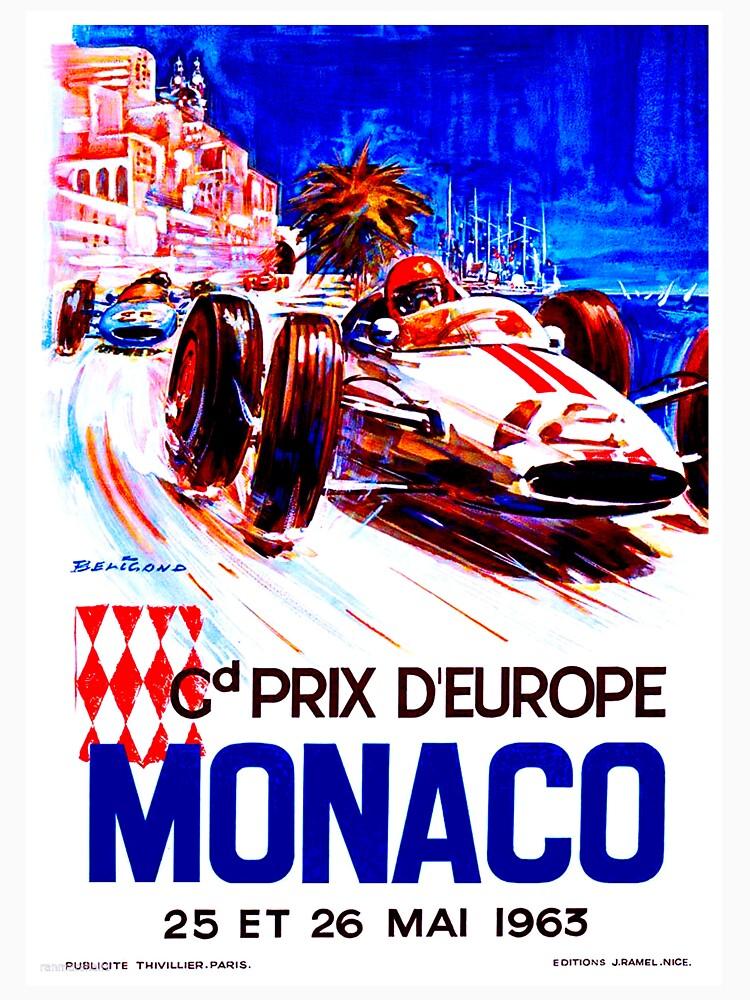 MONACO: Vintage Grand Prix Auto Racing Advertising Print by posterbobs