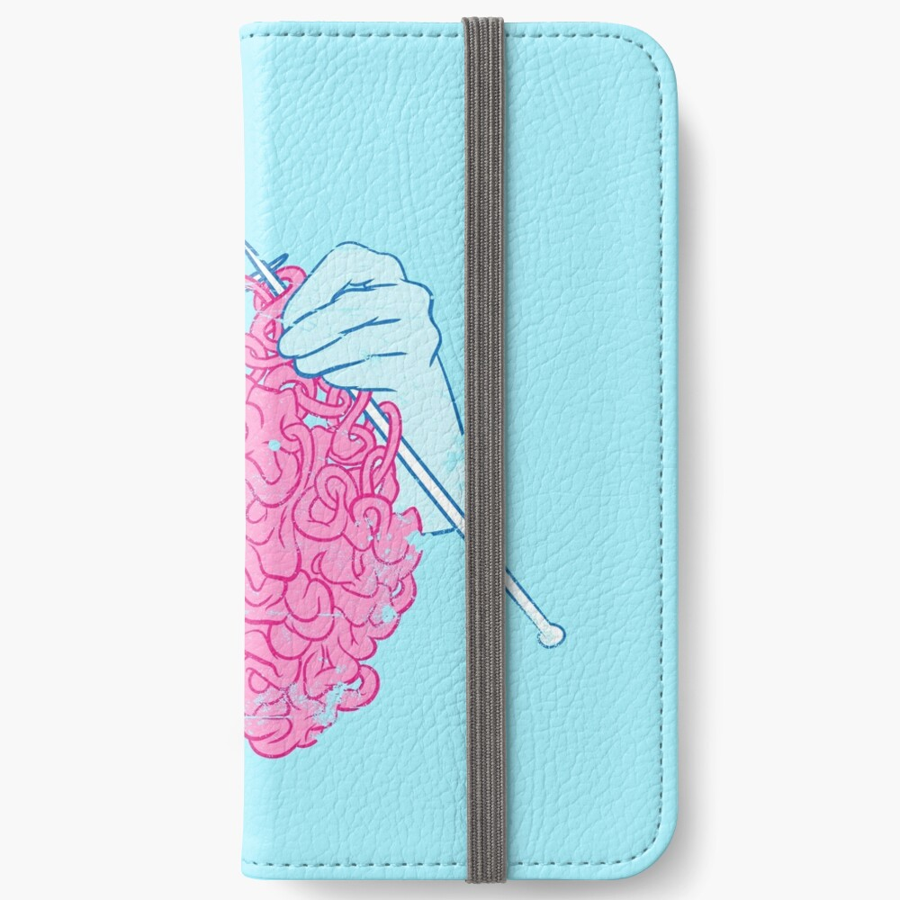 Knitting a brain iPhone Wallet
