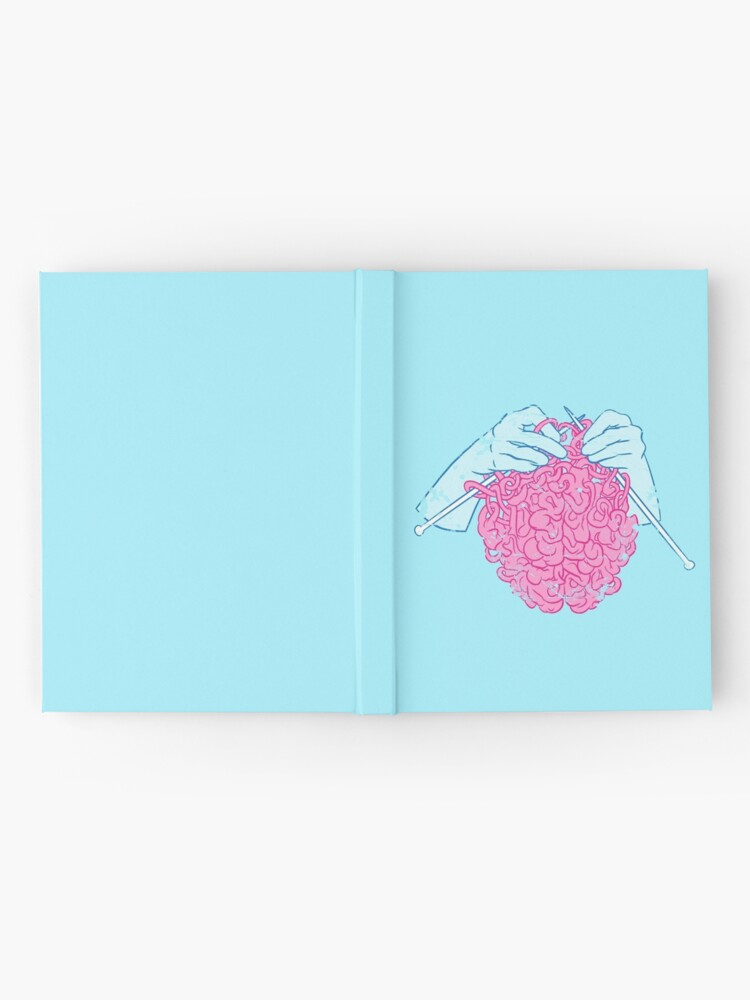 Alternate view of Knitting a brain Hardcover Journal