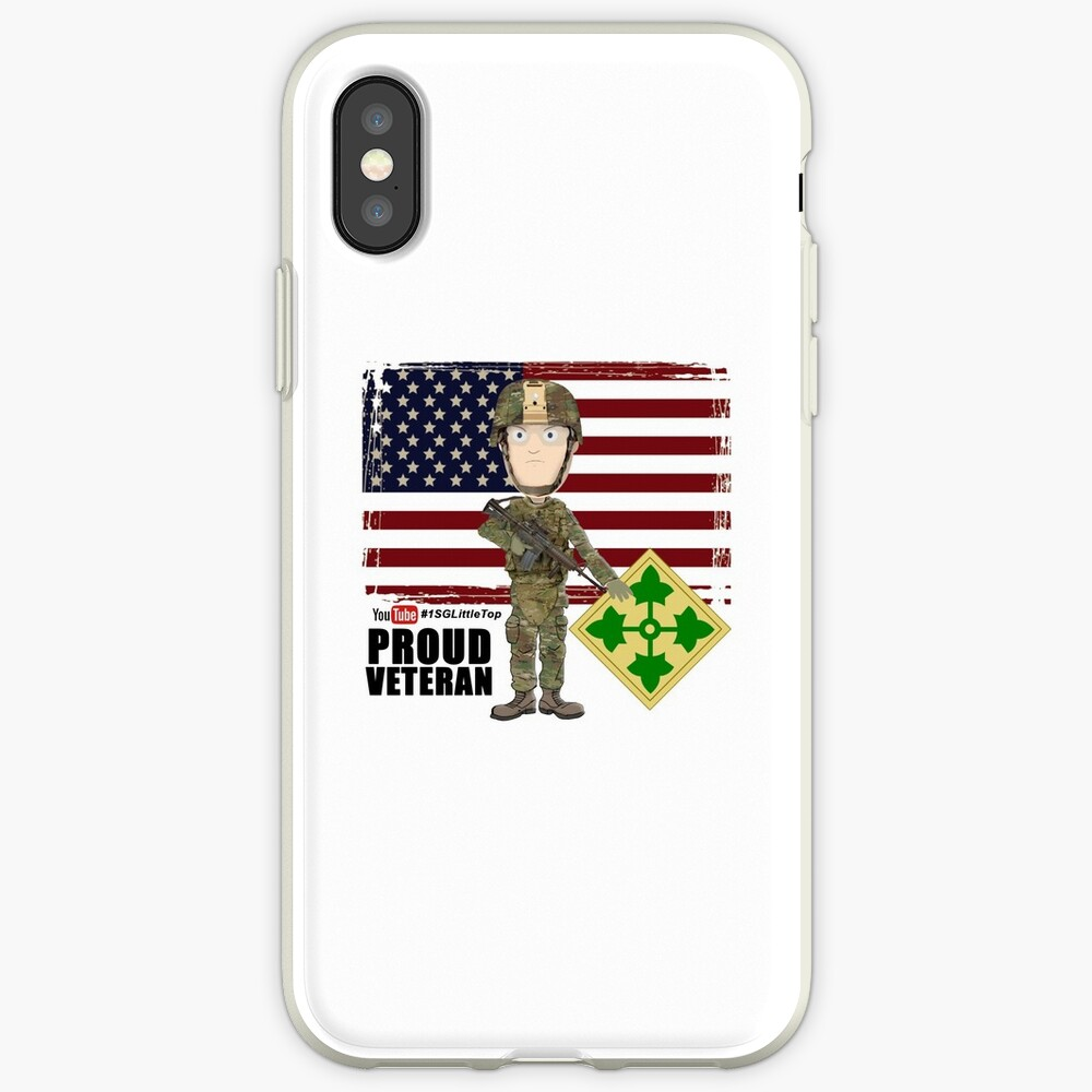 4th Infantry Division - Proud Veteran of OIF / OEF iPhone Case & Cover