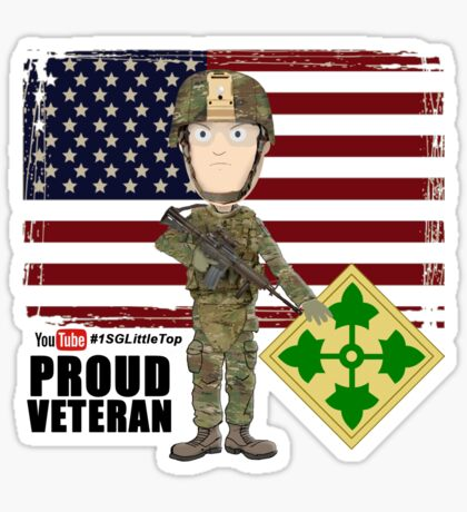 4th Infantry Division - Proud Veteran of OIF / OEF Sticker