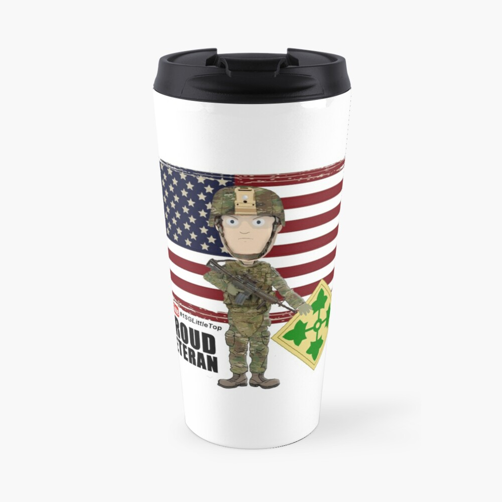 4th Infantry Division - Proud Veteran of OIF / OEF Travel Mug