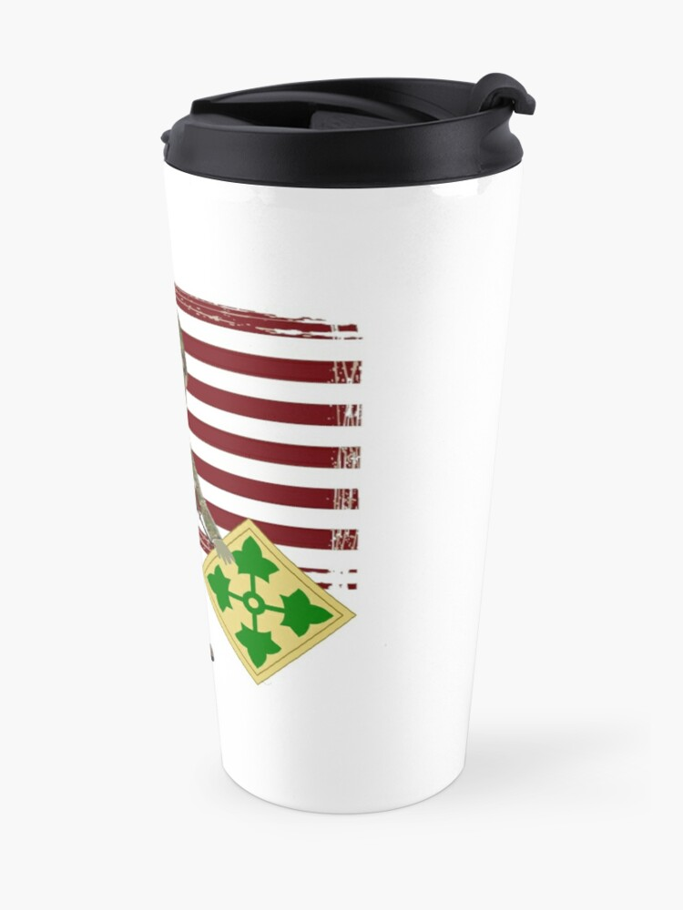 Alternate view of 4th Infantry Division - Proud Veteran of OIF / OEF Travel Mug