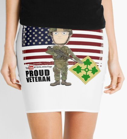4th Infantry Division - Proud Veteran of OIF / OEF Mini Skirt