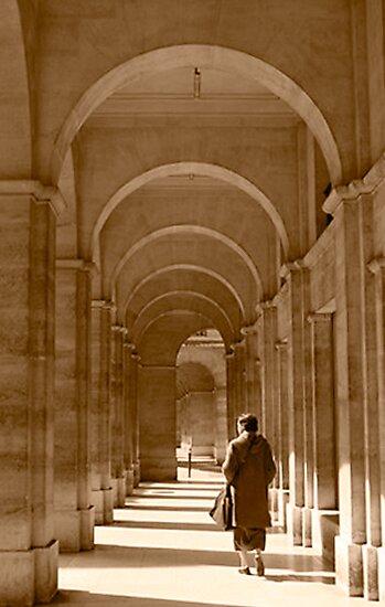 Archways in Paris, in sepia by Elana Bailey