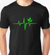 Pulse green go vegan save earth wave heartbeat  Unisex T-Shirt
