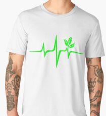 Pulse green go vegan save earth wave heartbeat  Men's Premium T-Shirt