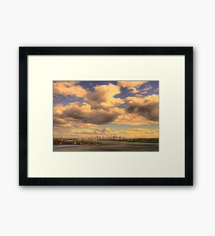 Big Sky Big City - Moods Of A City # 5 - The HDR Series - Sydney Harbour, Sydney Australia Framed Print