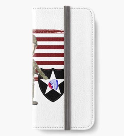 2nd Infantry Division - Proud Veteran iPhone Wallet