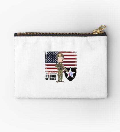 2nd Infantry Division - Proud Veteran Zipper Pouch
