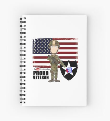 2nd Infantry Division - Proud Veteran Spiral Notebook