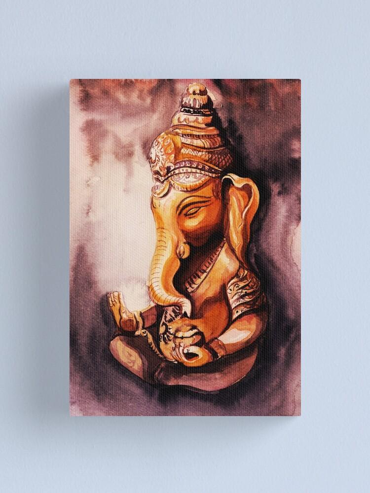 Ganesh Art Print- Elephant Animal Painting Watercolor Painting