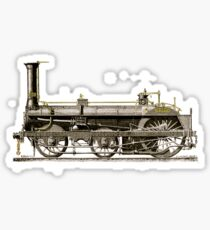 An Old Steam Locomotive Train Sticker