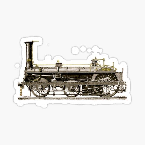 An Old Steam Locomotive Train Sticker