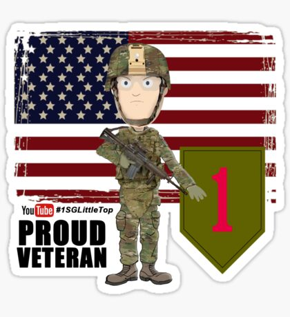 1st Infantry Division - Proud Veteran Sticker