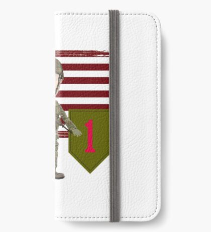 1st Infantry Division - Proud Veteran iPhone Wallet