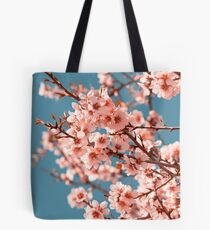 Pink Flowers Blooming Peach Tree at Spring Tote Bag