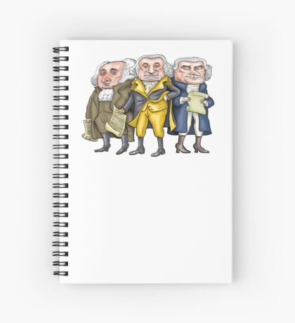 Founding Fathers | By Graeme MacKay Spiral Notebook