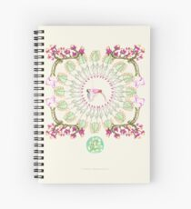 yoga garden III Spiral Notebook