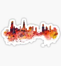 Chicago watercolor skyline Sticker