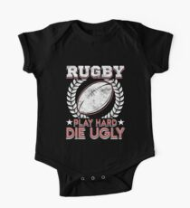 Rugby - Play Hard Die Ugly Kids Clothes