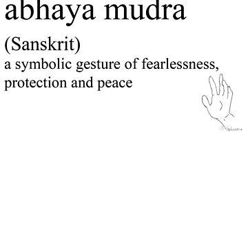 abhaya mudra-(Sanskrit)- statement tees & accessories by Rendezvousmag