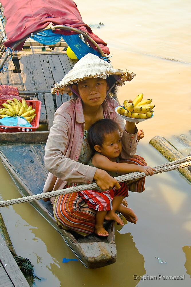 Lady Finger - Lake Tonle Sap, Cambodia by Stephen Permezel